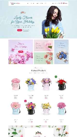 Create your online flowers store with storecook